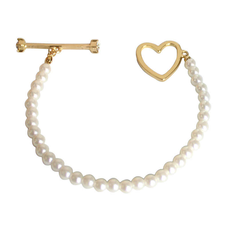 SANSUMMER 2019 Fashion Simple Lady Temperament Pearl Heart Bracelet Independent Packaging Suitable For Travel Commemorate 6427