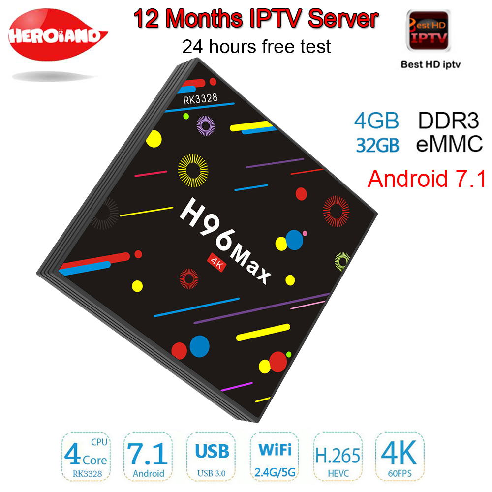 H96 MAX 4GB 32GB 12 Months server 2000 Live TV IPTV M3U ENIGAM2 Androd IPTV ITALY German French Spain UK IT android IPTV tv box