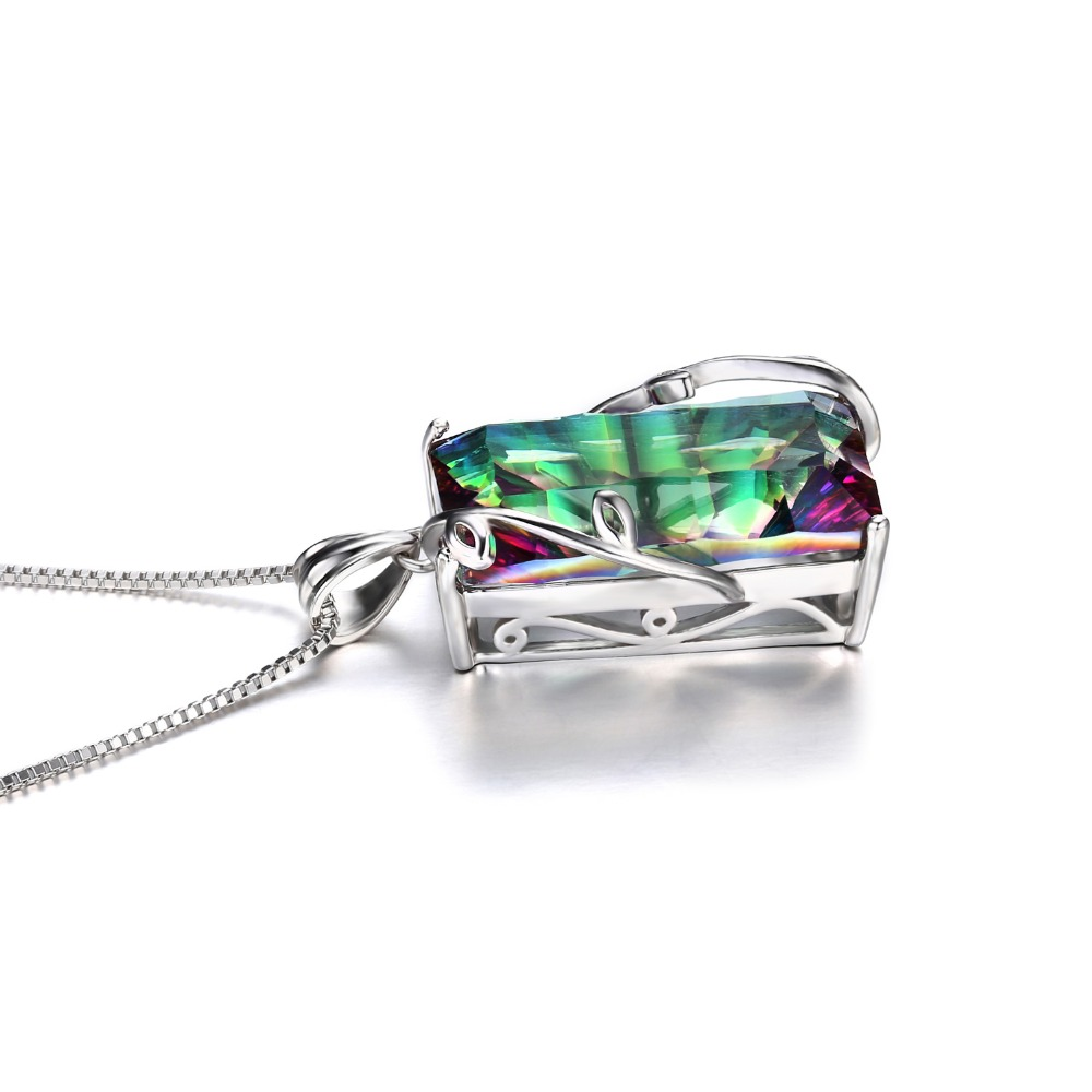 2014 Hot Huge 17.8ct Natural Rainbow Mystic Topaz Vintage - Նուրբ զարդեր - Լուսանկար 5