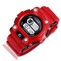 Цифровой спорт наручные часы Мода Автоматическая водонепроницаемый армии военные Часы высочайшее качество мужские led datejust часы будильник Нет указатель