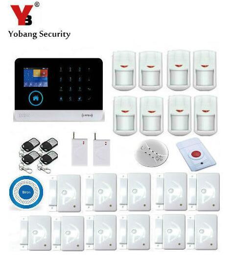 Yobang Security WIFI GSM Autodial House Office Burglar Intruder Alarm System LCD Display Alarm Panel APP Control Sensor Alarm free shipping lcd security wireless gsm autodial house office burglar intruder alarm system