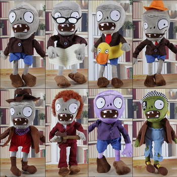 8pcs/lot 30cm Plants vs Zombies Zombies Plush Toys Doll Plants vs Zombies PVZ 2 Soft Plush Toy Stuffed Toys for Kids Xmas Gifts фото