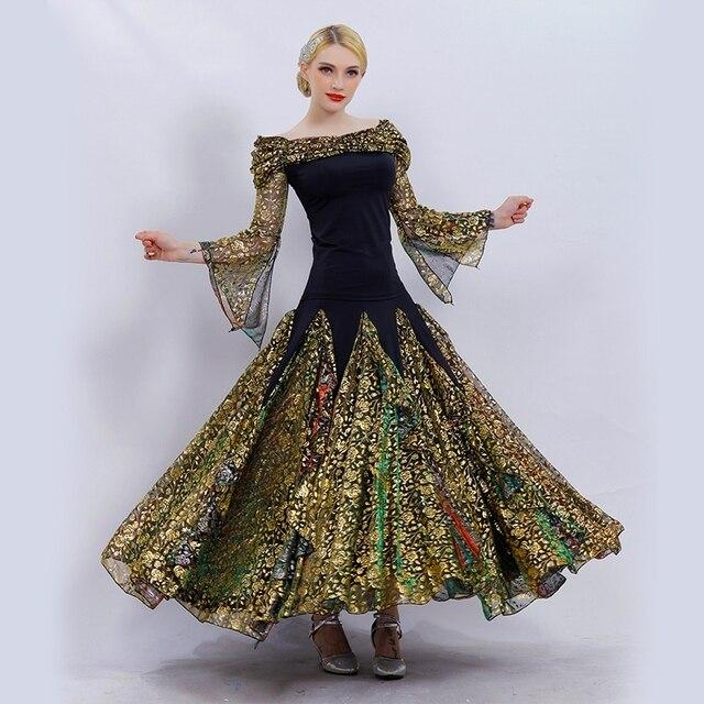 be6cc9ff9 gold ballroom dance competition dresses standard ballroom dress standard dance  dresses ballroom waltz dresses dacing clothes