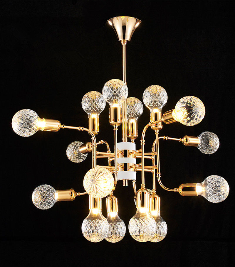 Modern Delightful Speaker Chandeliers Pendant Ceiling Lamp Fixture Gold Suspension Lighting Free shipping Art Lighting PA0500 chandeliers free shipping pendant fixtures chandelier chandelier - title=