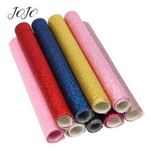 JOJO BOWS 22*30cm Thin Glitter Fabric Sparkly Solid Sheets DIY Hair Bows Materials For Party Decoration Apparel Sewing
