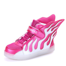Charging USB Light Kids Sneakers Led Sport Shoes Boys Girls Breathable Walking PU Luminous China Shop Online Stores