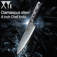 New Arrival 2018 8 inch Damascus Chef Kitchen Knife Japanese Damascus Steel VG10 XYj Cooking Kitchen Cutting Accessories Tools