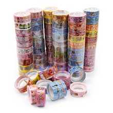 10Rolls Kawaii Deco Cartoon Tape Scrapbooking Adhesive Paper Sticker Nov2-A(China)