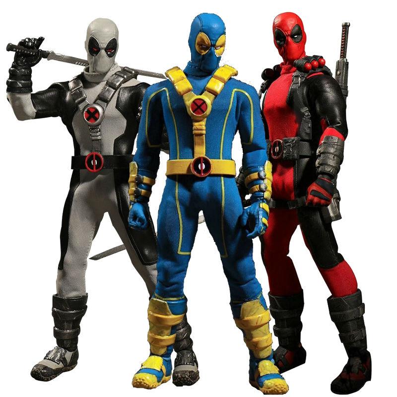 Figura MEZCO DEADPOOL ONE 1:2   SuperHero Marvel  en CAJA 18cm