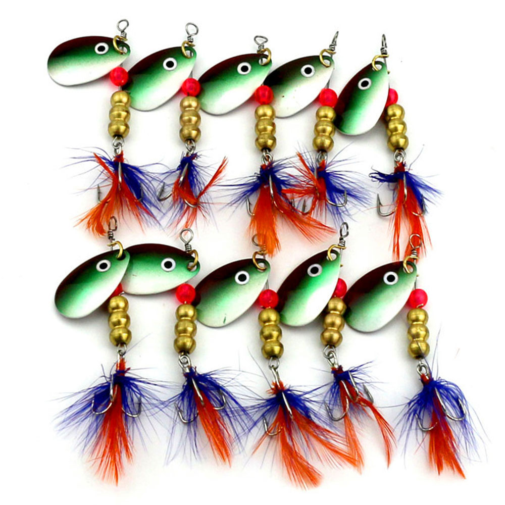 Sports & Entertainment Nice 10pcs Fishing Lure Bass Spinner Spoon Jerk Baits Fish Hooks Metal Vib Lure Tackle Freshwater Lures Trout 6g/6.5cm To Win A High Admiration