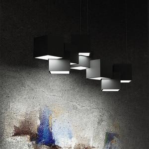 Image 4 - Postmodern Magic Cube Design Led Pendant Light Creative Art Gallery Dinner Living Room Led Hanging Lighting Fixtures