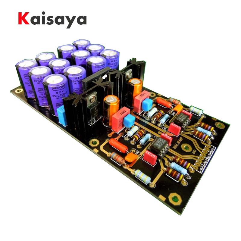 MM Amplifier Board PCBA Turntables Phono Amp OPA2111KP Germany DUAL Circuit Attenuated RIAA purple 35V Version HIFI DIY C2-003 aiyima mm moving magnetic head player board audio amplifier dual riaa phono amplifier board diy