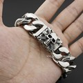 Various Lengths Huge 316L Stainless Steel Skulls Mens Biker Rocker Punk Bracelet 5Q013 Free Shipping