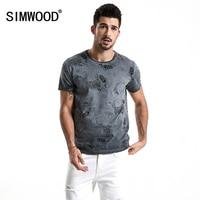 SIMWOOD 2018 Summer T Shirt Men 100 Pure Cotton Short Sleeve Carp Animal Printed Fashion Casual