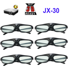 6pcs Active Shutter 96 144HZ Rechargeable 3D Glasses For Optama/Acer/BenQ/ViewSonic/Sharp/Dell DLP Link Projectors DLP 3D Ready