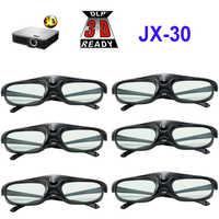6pcs Active Shutter 96-144HZ Rechargeable 3D Glasses For Optama/Acer/BenQ/ViewSonic/Sharp/Dell DLP Link Projectors DLP 3D Ready