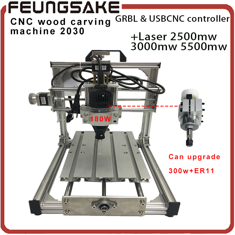 Wood Router 300w spindle CNC 2030 support laser work GRBL/USBCNC 180w Diy mini CNC machine engraving machine,pcb Milling machine grbl cnc 2030 customize diy mini cnc engraving machine laser engraving pcb pvc milling machine usbcnc wood router 300w spindle
