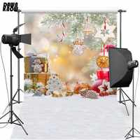 DAWNKNOW Buon Natale Del Vinile Fotografia di Sfondo Felice Anno Nuovo Poliestere Sfondo Per Foto di Famiglia In Studio 6106