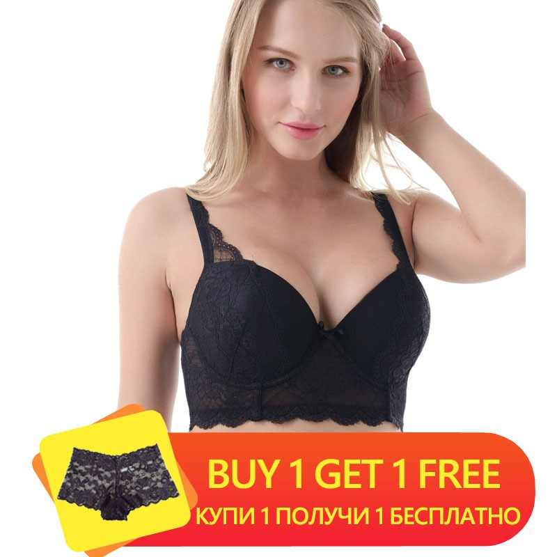 56f8dbebcf58a Women Big Breast Bra Sexy Lacy Women Bra 3 4 Cup Underwire Push Up High