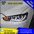 De coches de Estilo de cabeza de la lámpara para Mitsubishi Lancer Faros 2009-2015 Lancer EX LED DRL Faros Bi Xenon Lente de Alta de luz de Cruce aparcamiento