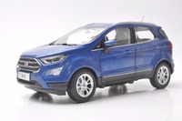 1:18 Diecast Model for Ford ECOSPORT 2018 Blue Mini SUV Alloy Toy Car Miniature Collection Gifts