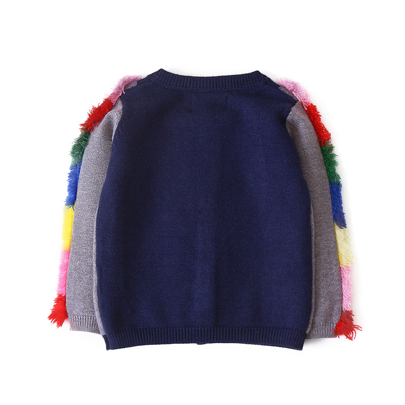 7091e6c43 2018 Autumn Winter Toddler Kids Knitted Cotton Cardigan For Girls ...