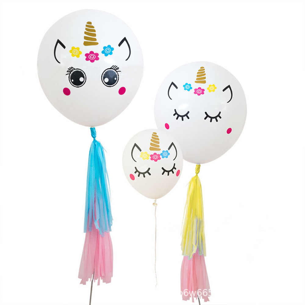Huiran Unicorn Theme Party Stickers on 36 inch Big Balloons Unicorn Balloon  Sticker Baloon Birthday Party Decor Kids Favors