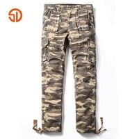 Camouflage Pants Fashion 2017 Mens Casual Pants Camo Cargo Pants Men Loose Straight Multi Pockets Warm