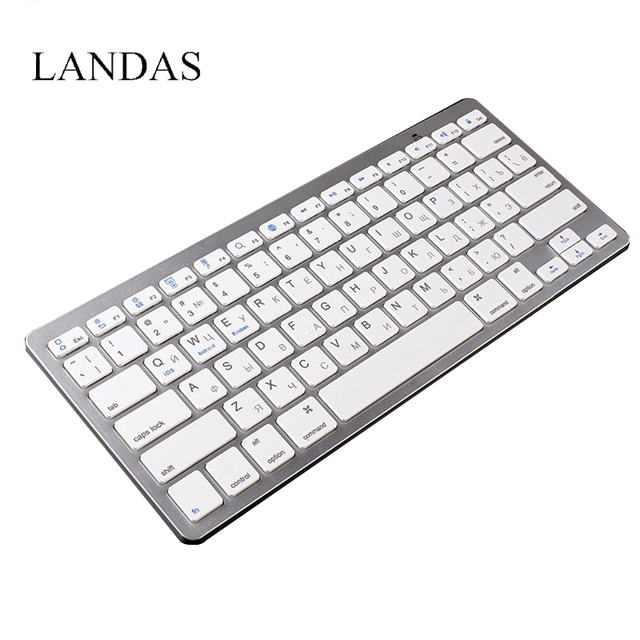 804845dc282 Landas Freach Spanish Russian Keyboard Bluetooth Wireless Keyboard for  Desktop computer Russian USB Keyboards for Smartphone
