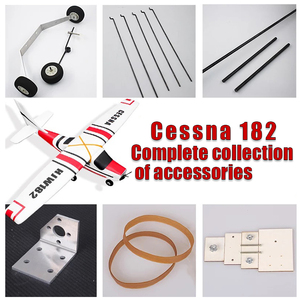 Image 5 - Cessna HJW182 1200mm Wingspan EPO Trainer Beginner RC Airplane Kit  For RC Models Remote Control Toys