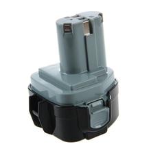 12 V, 3.0Ah, Ni-MH, reemplazo de la Batería para Herramientas Eléctricas para Makita 1233, 1234, 1235, 1235B, 1235F, 193138-9, 193157-5, negro + Gris