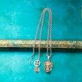 Skull Necklace Men Skull Pendant Men Necklace Accessoires Homme Men Infinity Tibet Silver Pendant Necklace
