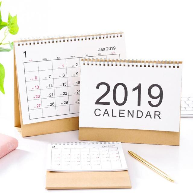 2019 Table Calendar weekly planner Monthly plan To Do List Desk