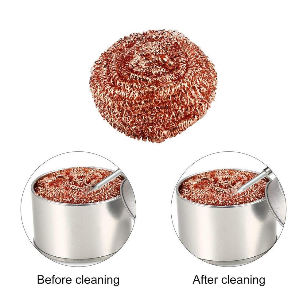 Boule de nettoyage, boule à dessouder en fer à souder filtre à mailles, pointe de buse de nettoyage de fil de cuivre, boule de particules métalliques, boîte de nettoyage
