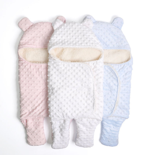 Baby Sleeping Bag Cotton Warm Swaddle Wraps Soft Comfortable  Baby Bag Newborns Blanket Hooded Sleeping Bag