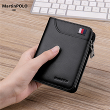 MartinPOLO Men Wallets Brand Genuine Leather Mens Wallet Card Holder Male Purse High Quality Cartera Hombre MP1003