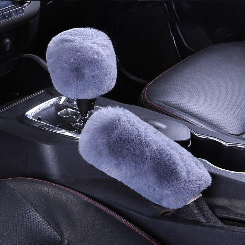 Car Parking Handbrake Grips Cover Pad For Hyundai Solaris Tucson 2016 I30 IX35 I20 Accent Santa Fe Citroen C4 C5 C3 C2