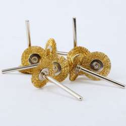Fixmee 5 шт. латунь Провода колеса Расчёски для волос инструмент для полировки die Шлифовальные станки Dremel вращающихся 22 мм