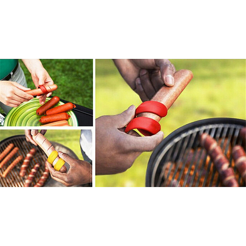 2Pcs/LOT Manual Fancy Sausage Cutter Spiral Hot Dog Cutter Slicer Kitchen Gadget