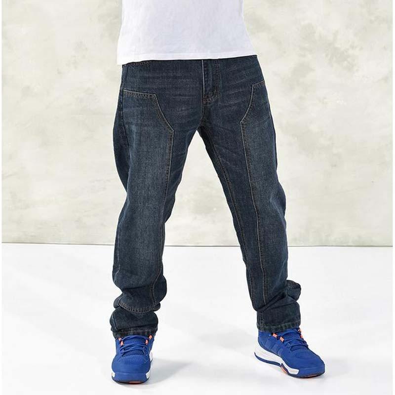Men's Hiphop Big Size Baggy pants New Loose Fertilizer Increase Fat Jeans Hip Hop Man Trousers 30 44 46 summer new 2016 fashion plus size hiphop jeans men trousers thin calf lenght pants loose man s baggy pants 1802 1
