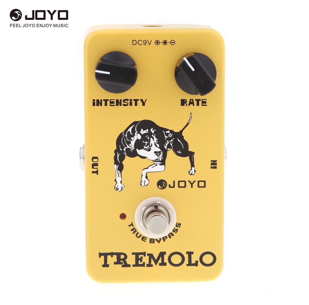 Joyo JF 09 Tremolo Guitar Pedal Tremolo Stompbox Of Classic Tube Amplifiers Intensity rate knob Tone