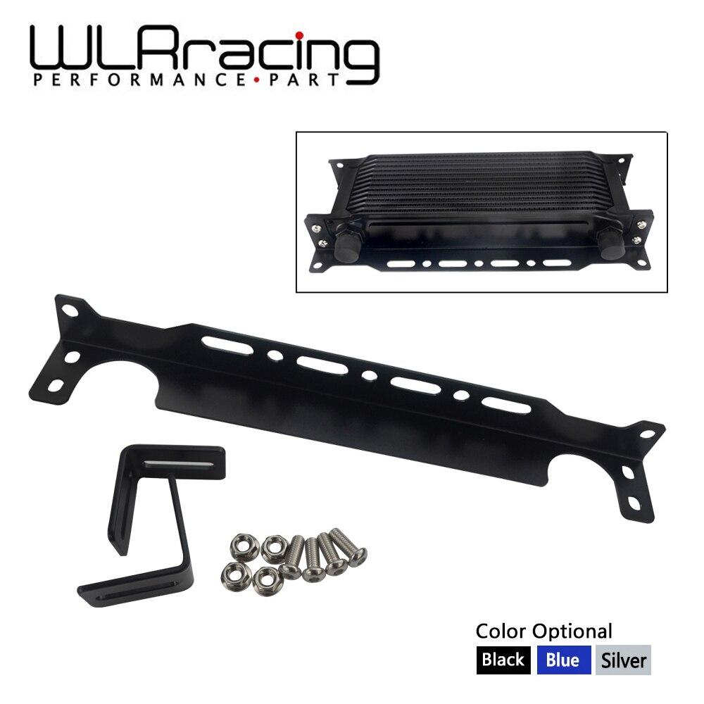 Wlr-novo tipo britânico universal kit de suporte de montagem do refrigerador de óleo do motor 2mm espessura alumínio WLR-OCB01