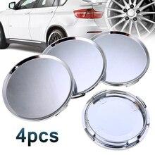 4 Stks/set Universal 63 Mm Auto Voertuig Wiel Center Hub Cap Cover Zilver Voor Meest Auto Vrachtwagens Voertuigen