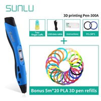 SUNLU 3D Pen SL 300A With USB Data Cable PLA/ABS/PCL Filament 3D Printing Pen As Birthday Gift For Children Explore Brains Tools