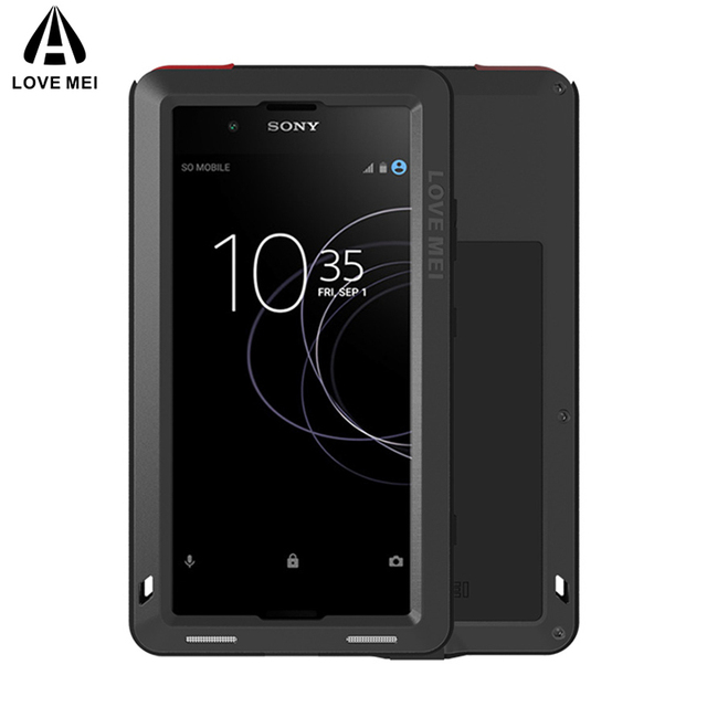 new arrival 32e9c 5ae64 US $26.88 28% OFF|LOVE MEI Aluminum Metal Case For Sony Xperia XA1 Plus  Cover Armor Shockproof Waterproof Case For Sony Xperia XA1 Plus (5.5  inch)-in ...