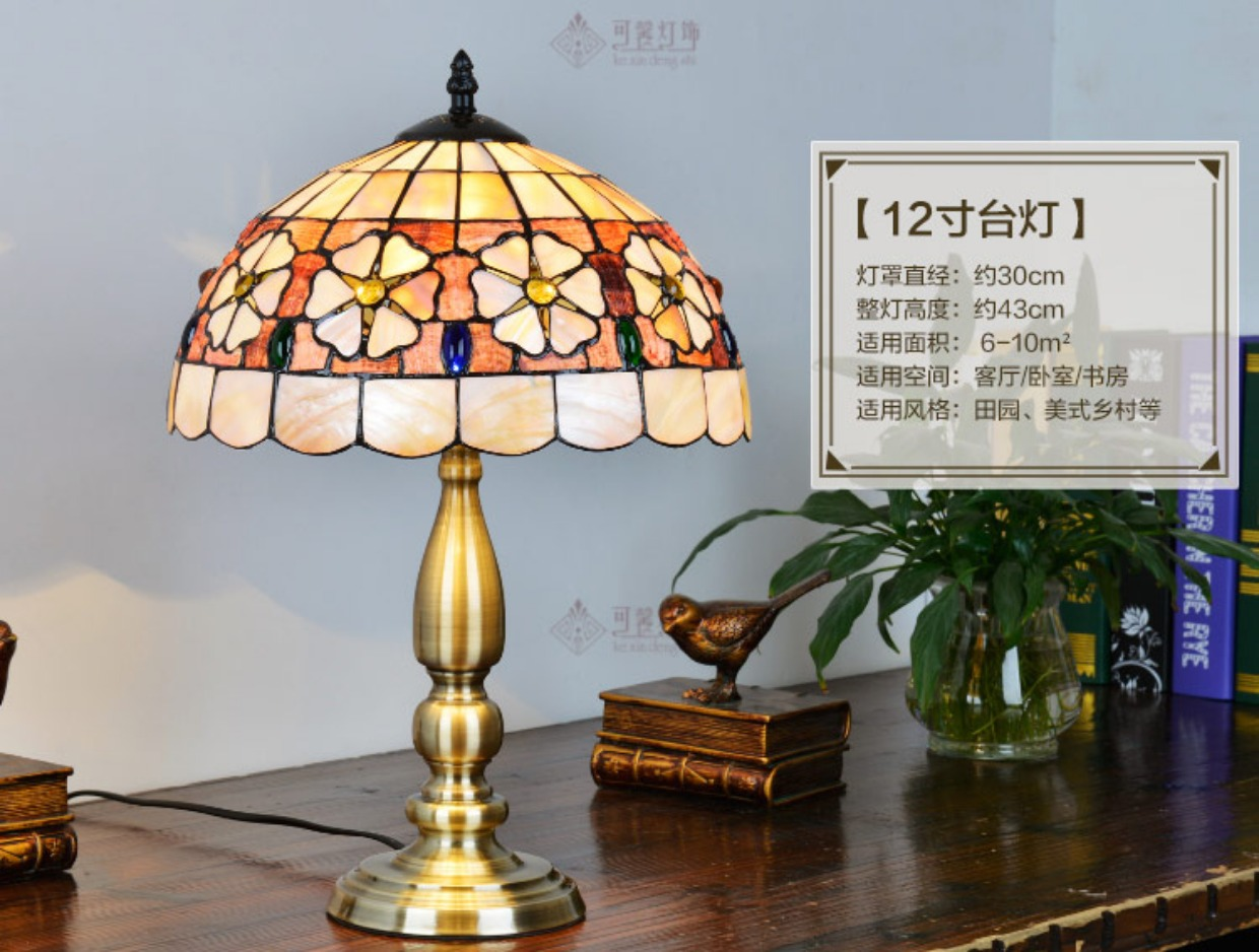 Tiffany Table Lamp Shell Nature European Baroque Classic For Living Room Bedroom E27 110 240v In Table Lamps From Lights Lighting On Aliexpress Com