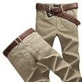 Más el Tamaño 28 ~ 38 Hombres Pantalones Casuales Pantalones Rectos Delgados Pantalones Masculinos Pantalones de sarga de Color Caqui Verde Del Ejército Azul Marino Chinos Pantalones de Los Hombres 6619