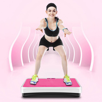 2019 New Black Vibration Fitness Massager Vibration Plate Fitness Equipments Body Building Exercise Workout Equipments HWC