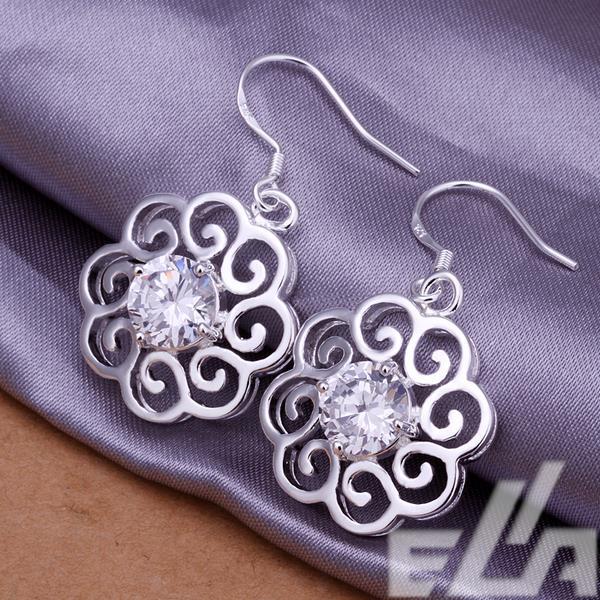 Argent plaqué bijoux verre cabochon boucles d oreilles en cristal pour les  femmes f319da691dc