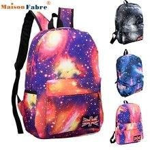 Hohe qualität galaxy muster unisex travel rucksack canvas freizeit taschen schultasche